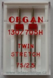 Dvojjehla Organ 130/705H Stretch č. 75/2,5